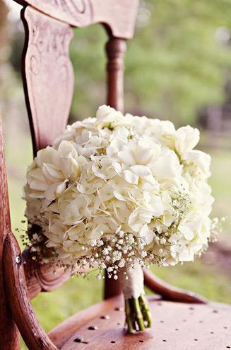 База букет гортензии свадебный цветов почтой