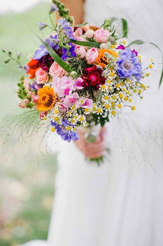 Букет невесты полевой