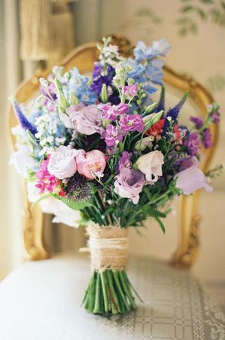 фото цветы букет полевые