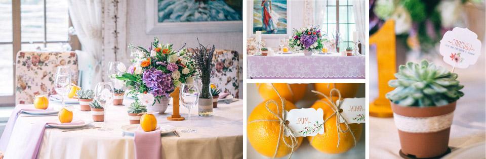 оформление свадьбы в ресторане черемша