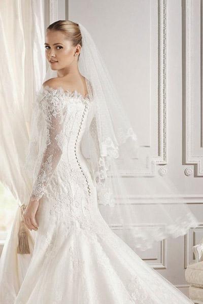 265a380406ec4f4 свадебные платья с кружевными рукавами