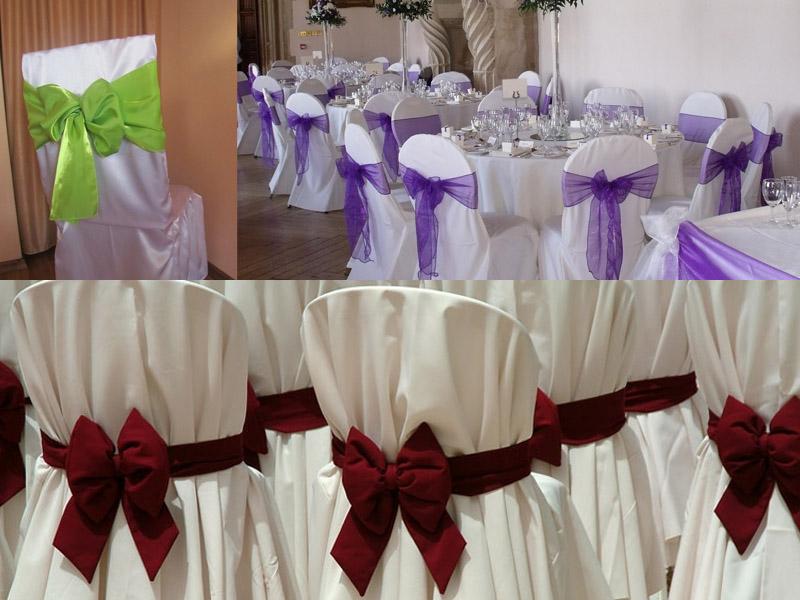 фото оформление стульев на свадьбу