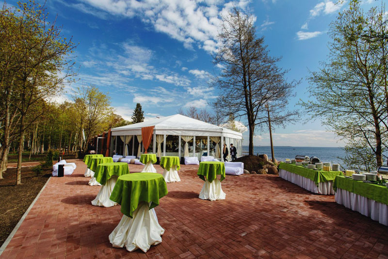 Рестораны с шатрами для свадьбы