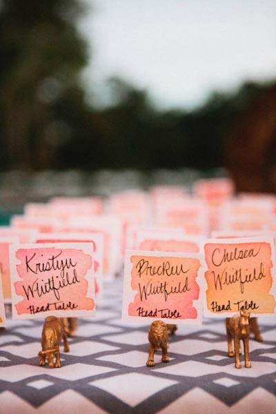 Оригинальная рассадка гостей на свадьбу