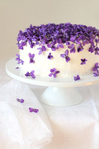 Торти в мелкий цветочек фото